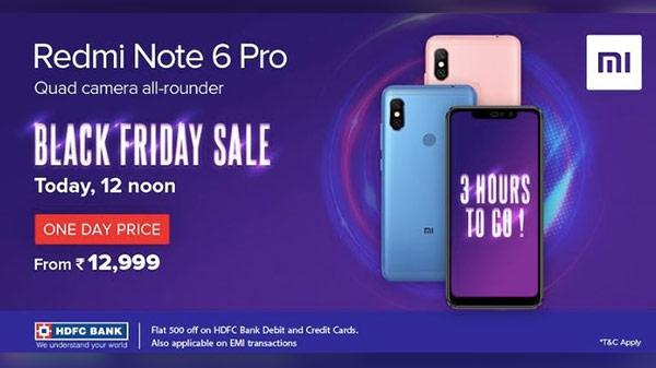 Redmi Note 6 Pro की बिक्री 12 बजे से शुरू, कुल 3,900 रुपए तक का मिलेगा ऑफर