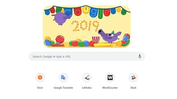 गूगल ने भी नए साल का किया स्वैग से स्वागत