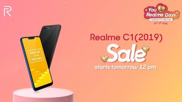 Entertainment Ka Boss: Realme C1 (2019) की फर्स्ट सेल आज दोपहर 12 बजे से शुरू