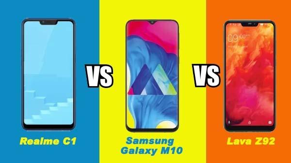 Realme C1 (2019) vs Samsung Galaxy M10 vs Lava Z92: 10,000 रुपए तक के नए स्मार्टफोन