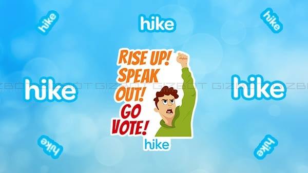 हाइक ने पेश किए वोटिंग स्पेशल स्टिकर्स, ''आराम न फरमाएं, वोट देने जाएं''