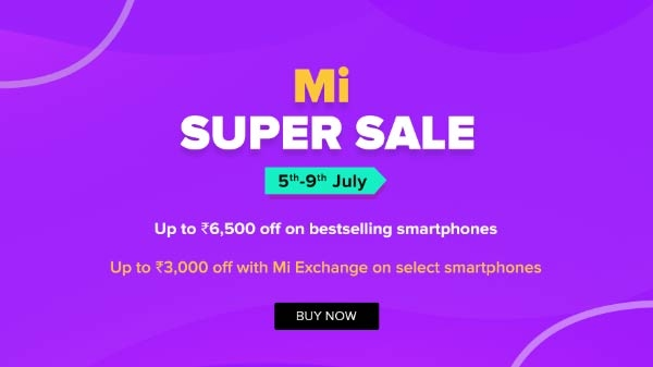 Mi Super Sale आज से शुरू, 9500 रुपए तक का डिस्काउंट ऑफर