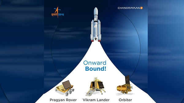 पृथ्वी के चक्करों को पूरा करके चांद की तरफ बढ़ा चंद्रयान-2