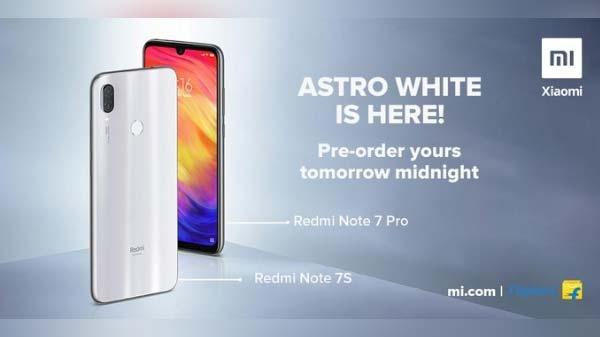 Redmi Note 7 Pro का Astro White वेरिएंट आज रात से बिक्री के लिए होगा उपलब्ध