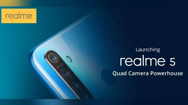 Realme 5 Series: 4 कैमरा, दमदार बैटरी और पॉवरफुल प्रोसेसर, जानिए कुछ खास स्पेसिफिकेशंस