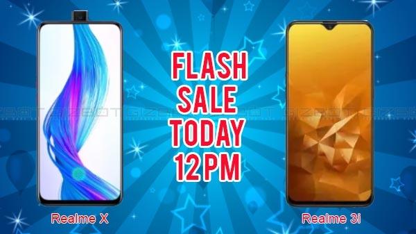 Realme X और Realme 3i की फ्लैश सेल, 12 बजे से होगी शुरू