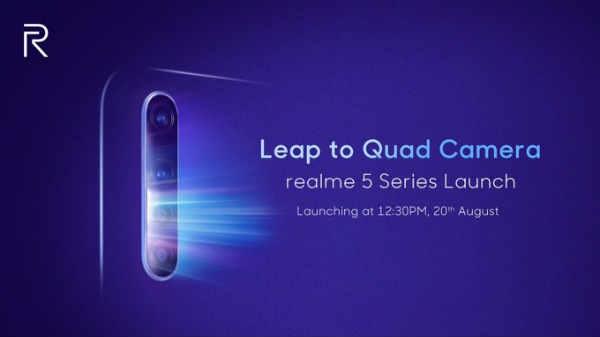 20 अगस्त को लॉन्च होगा 4 कैमरों वाला Realme 5 Series