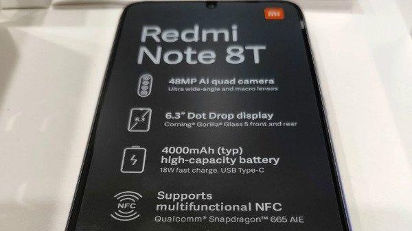 Xiaomi Redmi Note 8T स्मार्टफोन की तस्वीर आई सामने, जल्द होगा लॉन्च