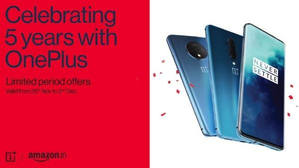 OnePlus 5th Anniversary Sale: स्मार्टफोन और स्मार्ट टीवी पर भरपूर डिस्काउंट और कैशबैक का ऑफर