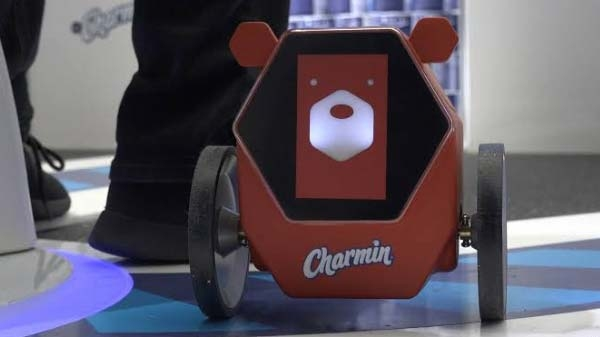 1) Charmin Rollbot: Toilet paper robot