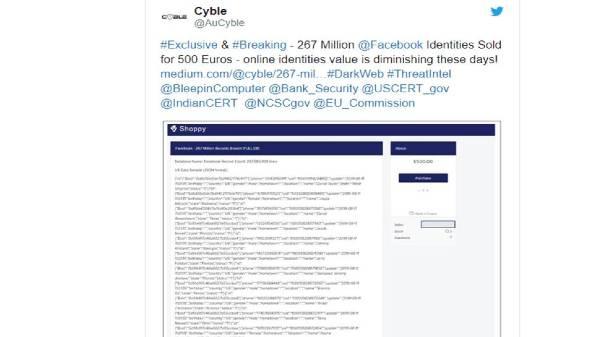 फेसबुक के 26 करोड़ यूजर्स का डेटा हुआ चोरी