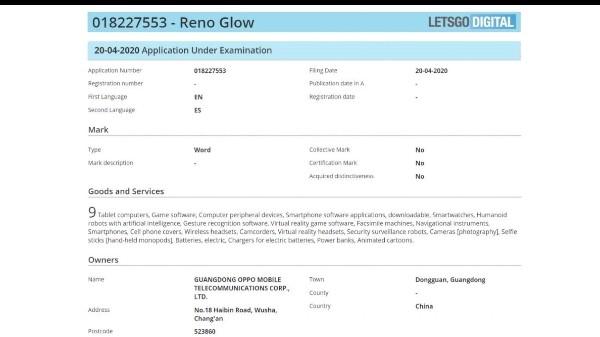 ओप्पो ने रेनो सीरीज स्मार्टफोन के लिए किया ट्रेडमार्क आवेदन