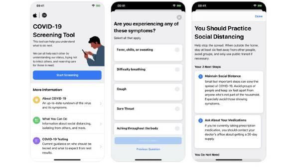 एप्पल ने अपडेट की अपनी कोरोना स्क्रीनिंग एप
