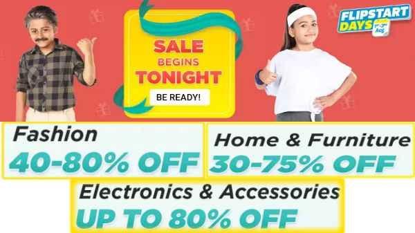 Flipkart की FLIPSTART Days Sale: 1 सितंबर से हर प्रॉडक्ट पर मिलेगा भरपूर डिस्काउंट