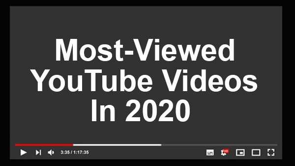 Most viewed videos of the year 2020 on Youtube