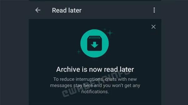 व्हाट्सऐप का नया Read Later फीचर जल्द होगा पेश, जानिए इसमें क्या होगा खास