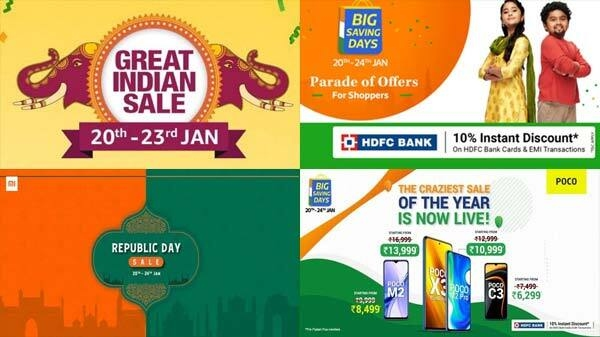 Republic Day Sale 2021: अमेज़न vs फ्लिपकार्ट vs शाओमी vs वनप्लस vs पोको