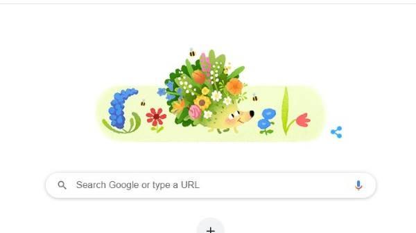 गूगल ने एनिमेटेड फूल-पत्तियों वाले डूडल के जरिए किया वसंत ऋतु का स्वागत