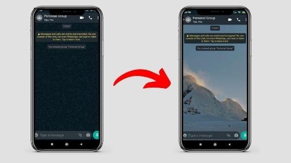 एंड्रॉइड मोबाइल पर व्हाट्सएप चैट में कस्टम वॉलपेपर सेट करें