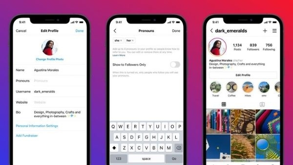 अब आप भी Instagram पर अपने प्रोफ़ाइल पर जोड़ सकते है Pronouns
