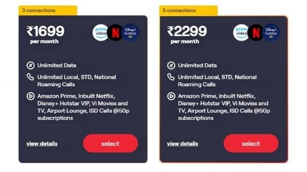 Vodafone Idea launches 2 more new plans in Vi RedX Family, gets unlimited data