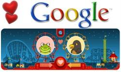 गूगल का डूडल भी मना रहा है वैलेंटाइन डे