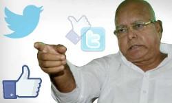 ट्विटर और फेसबुक पर छा गए है लालू प्रसाद यादव