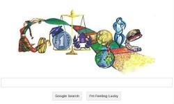 गूगल के होम पेज पर पुणे की गायत्री का डिजाइन