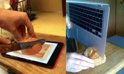 क्या हुआ जब इन्होंने सेब में लगाया आईफोन का हेडफोन