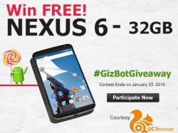 भाग लीजिए GizBot Giveaway प्रतियोगिता में और जीतिए फ्री गूगल नेक्सस 6