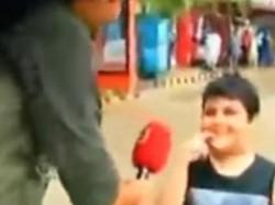 बच्चे के जवाब ने उड़ाए पाकिस्तानी रिपोर्टर के होश!