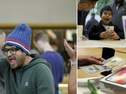iPhone X की दिवानगी में ऐसा हुआ लोगों का हाल, देखें ये मजेदार तस्वीरें