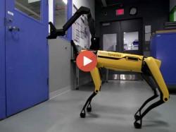 देखिए कैसे रोबोट ने किया इंसानों का काम, खोला बाहर जाने का दरवाजा