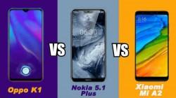 Oppo K1 vs Nokia 5.1 Plus vs Xiaomi Mi A2: चुनिए अपना सर्वश्रेष्ठ स्मार्टफोन