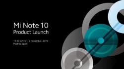 Xiaomi Mi note 10: 108MP सेंसर और पांच कैमरों के साथ होगा लॉन्च