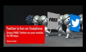 वोडाफोन दे रहा है 3 महिनों के लिए फ्री ट्विटर एक्सेस
