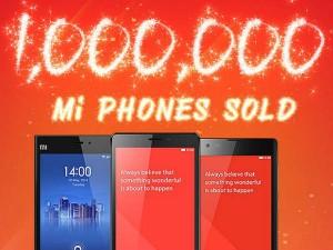 श्याओमी ने भारत में बेंचे 10 लाख स्मार्टफोन