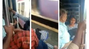 चलती ट्रेन से गिरी लड़की लेकिन फिर भी बच गई जान, वीडियो हुआ वायरल