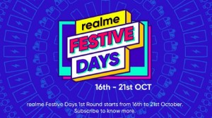 Realme Festive Days Sale: 16 अक्टूबर से हो रही है शुरू, इन प्रोडक्ट्स पर उठाएं भारी लाभ