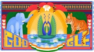 Google ने डूडल के जरिए भारत को दी स्वतंत्रता दिवस की शुभकामनाएं