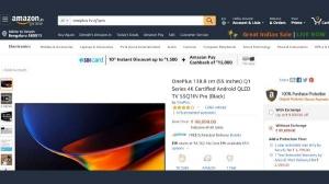 Amazon Great Indian Sale में OnePlus Smart TV पर भरपूर कैशबैक